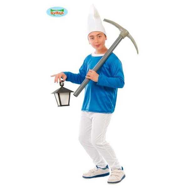 Disfraz enanito azul pitufo infantil