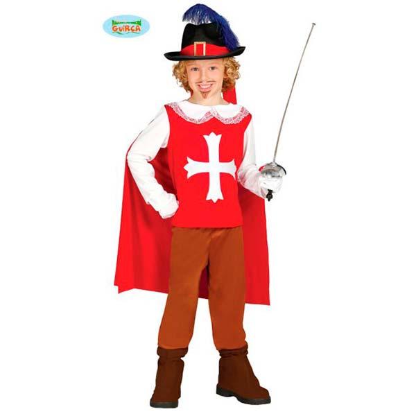 Disfraz mosquetero rojo infantil