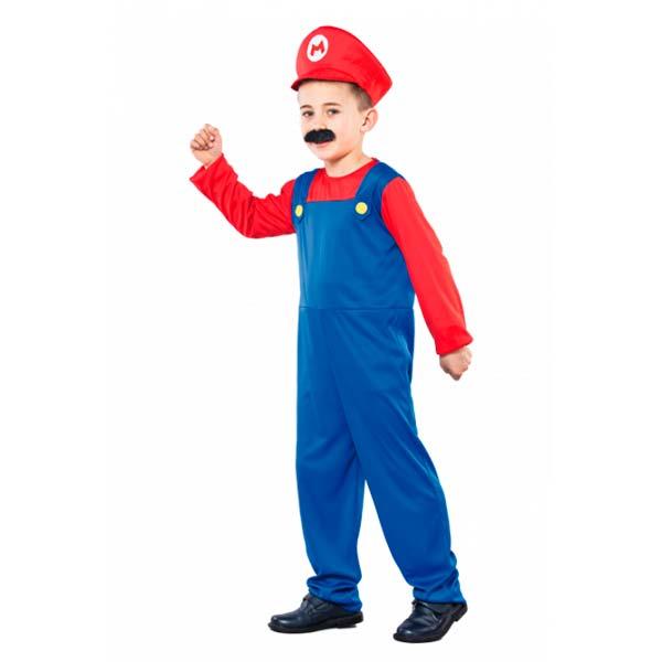 Disfraz fontanero Mario infantil