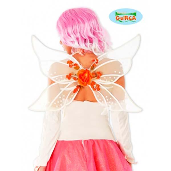 Alas de mariposa blancas y naranjas