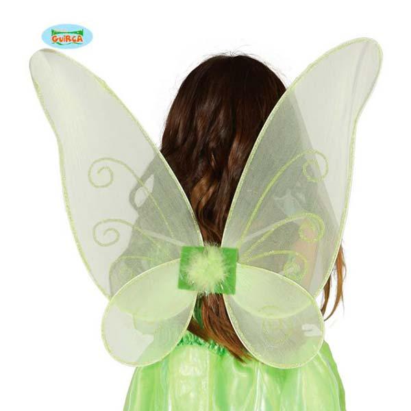 Alas de mariposa verde claro