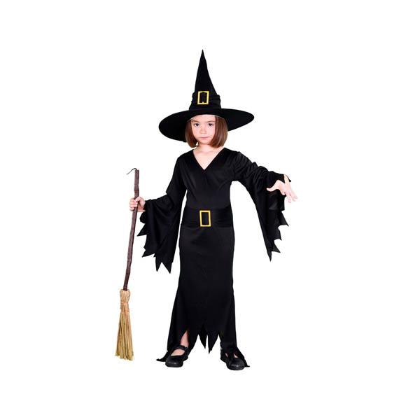 BT - Disfraz de bruja negra para niña