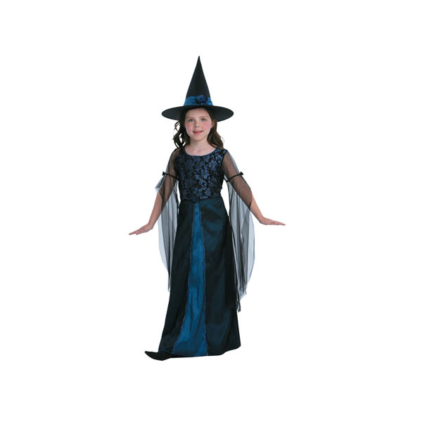 BT - Disfraz de bruja azul para niña