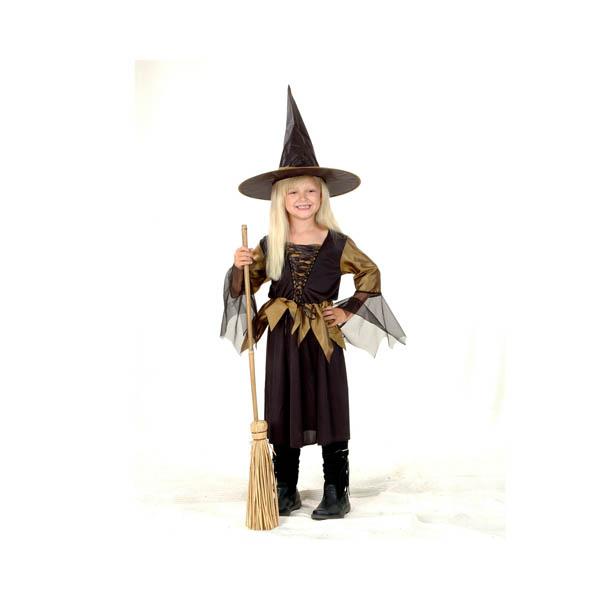 BT - Disfraz de bruja dorada para niña