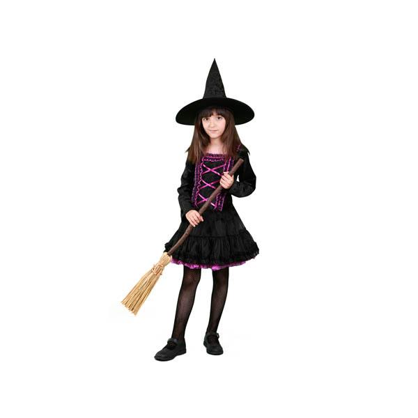 BT - Disfraz de bruja lila para niña