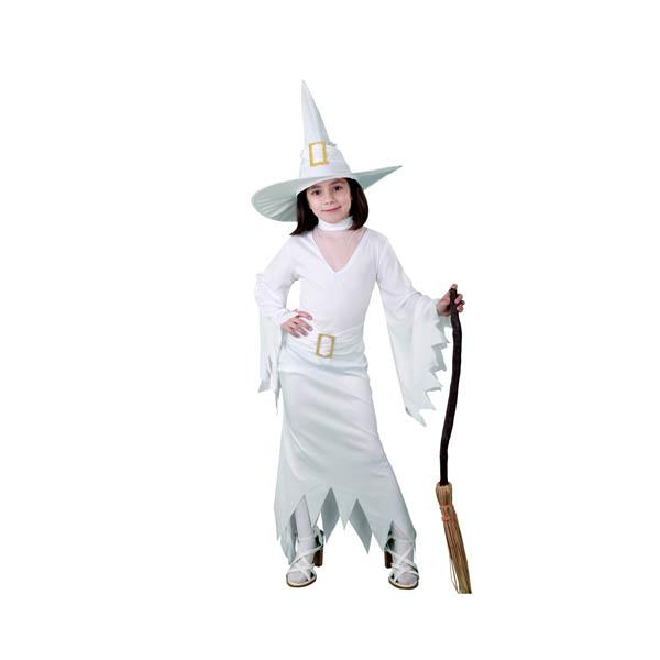 BT - Disfraz de bruja blanca para niña