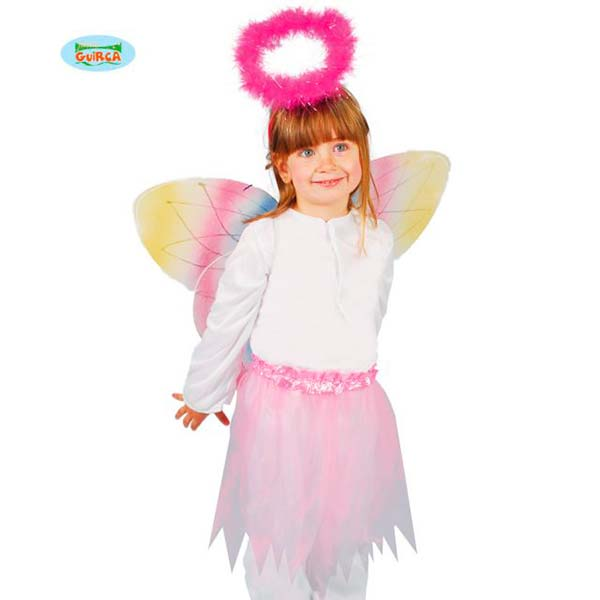 Conjunto de alas de mariposa, tutú y diadema