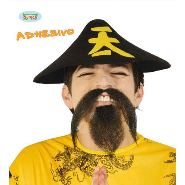 Conjunto para chino de bigote y perilla adhesivo