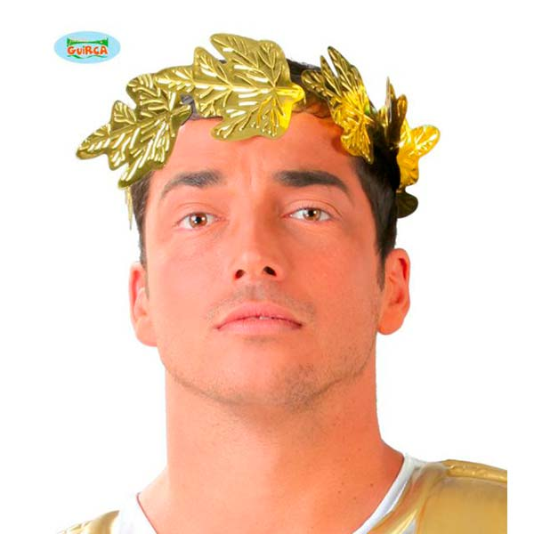 Corona de césar dorada