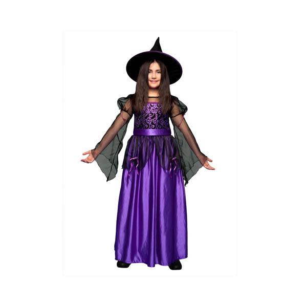 Disfraz de Bruja Lila para niña