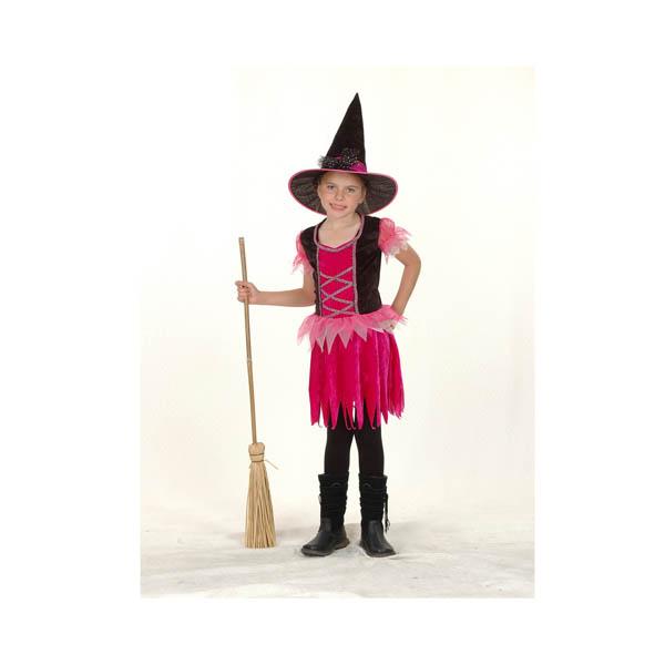 BT - Disfraz de bruja rosa para niña