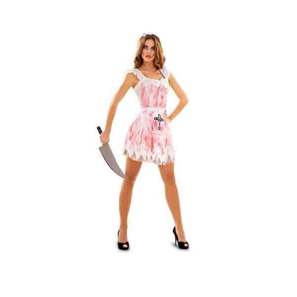 Disfraz de criada loca para mujer