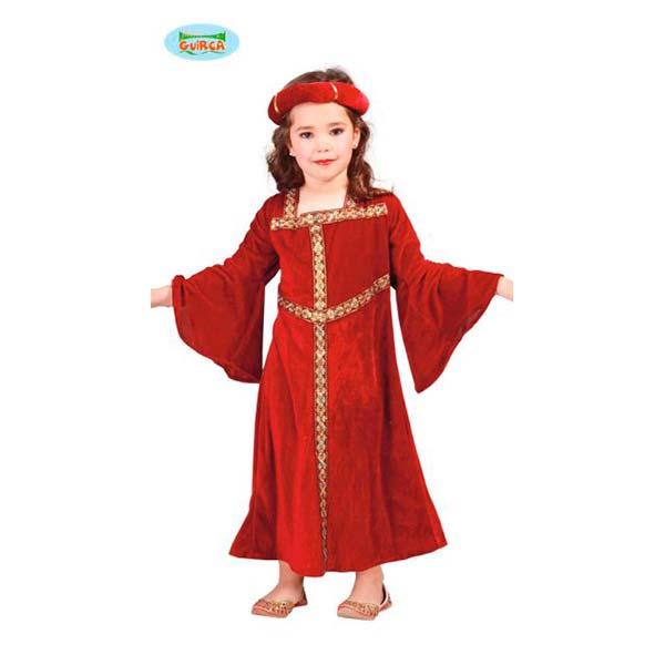 Disfraz dama medieval para niña