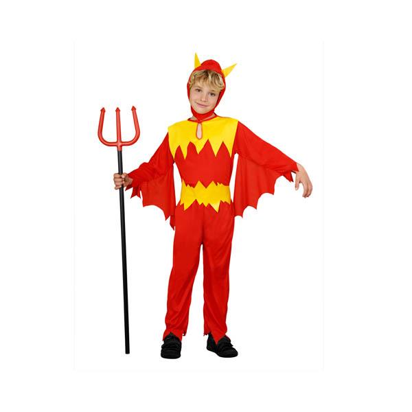 Disfraz de demonio rojo y amarillo para niño