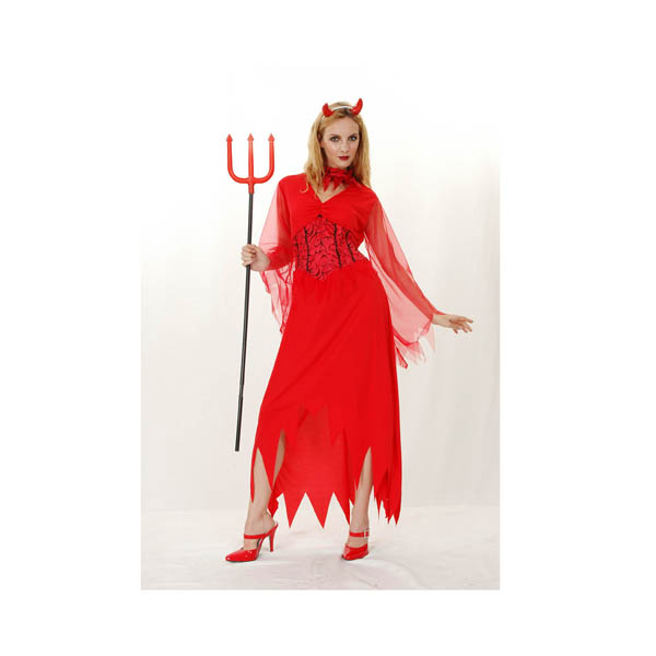Disfraz de diablesa roja para mujer