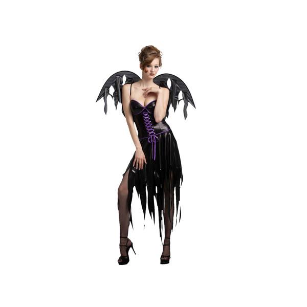 Disfraz de diablesa con alas
