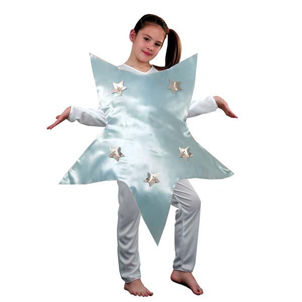 Disfraz estrella plateada infantil