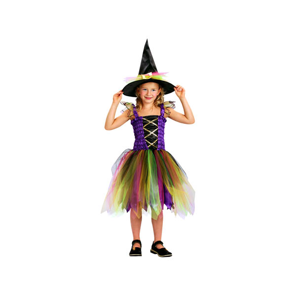 Disfraz de Hechicera Arco Iris para niña