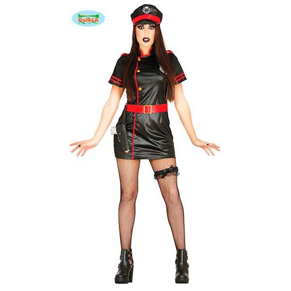 Disfraz de militar gótica para mujer