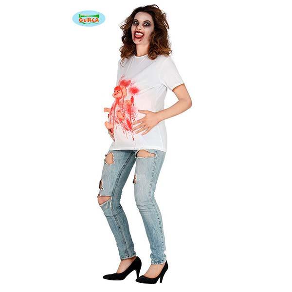 Disfraz de mujer zombie embarazada