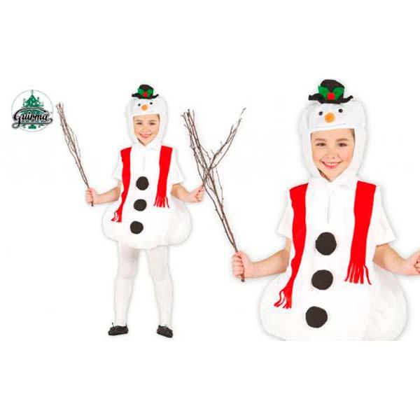 Disfraz de muñeco de nieve para niña