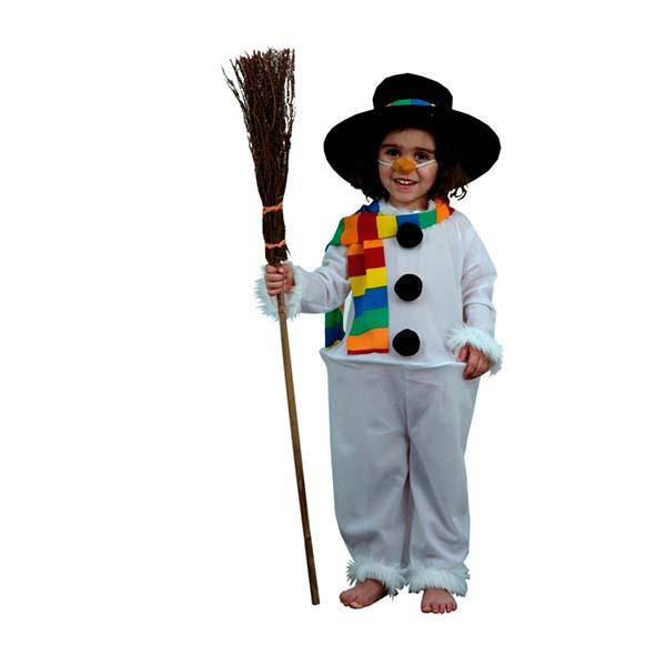 Disfraz muñeco de nieve para niña