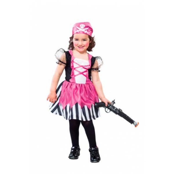 Disfraz de pirata infantil rosa