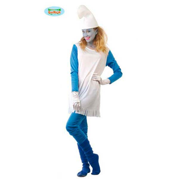 Disfraz de pitufina para mujer