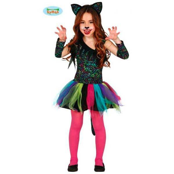Disfraz Rainbow Leopard para niña