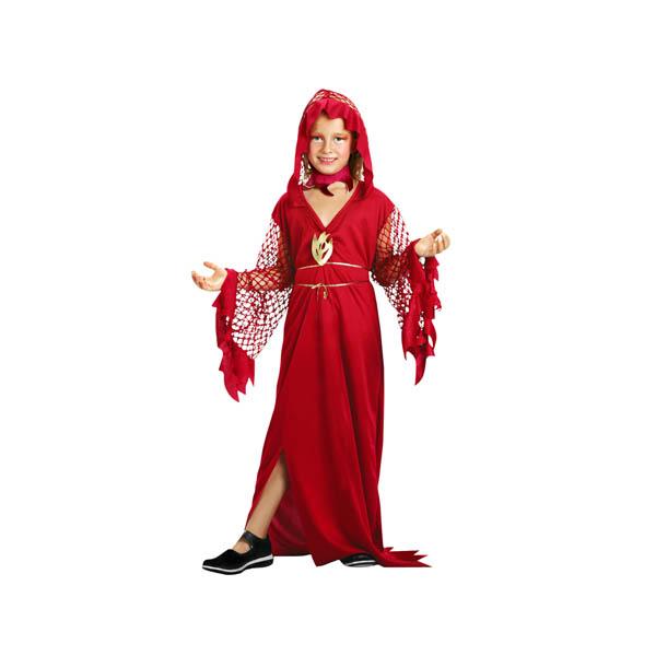 Disfraz Reina del Fuego para niña