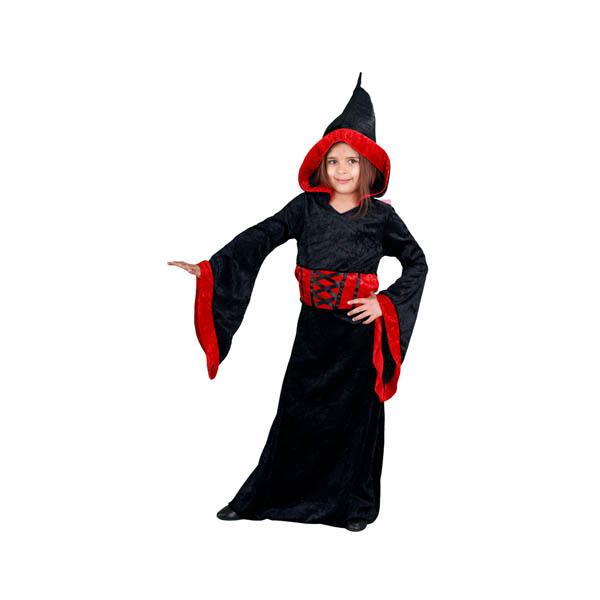 Disfraz sacerdotisa maligna para niña