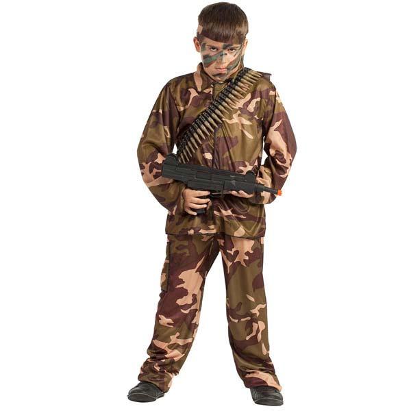 Disfraz de Soldado de camuflaje para niño