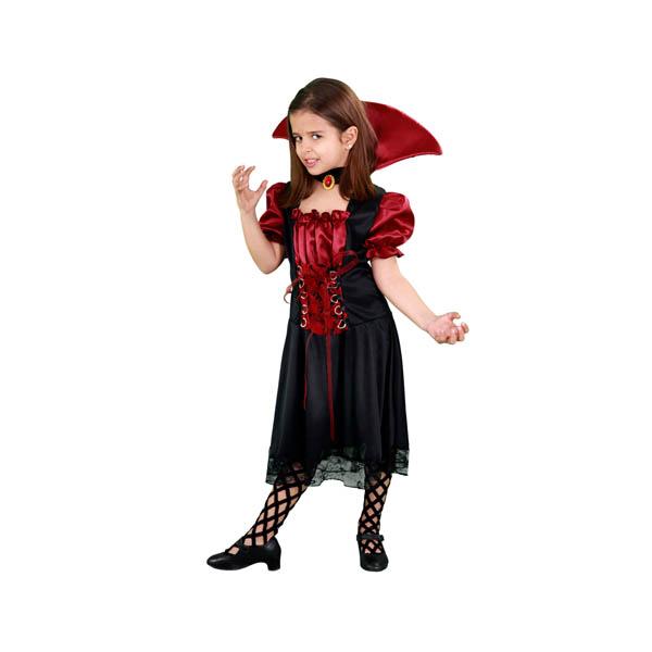Disfraz de Vampiresa misteriosa para niña