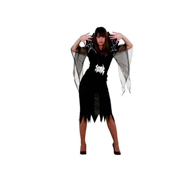 Disfraz de viuda negra para mujer