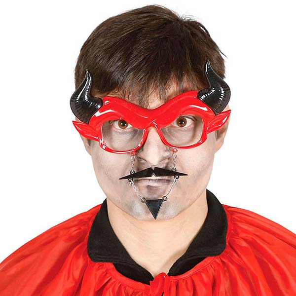 Gafas de demonio con bigote