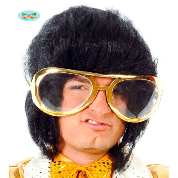 Gafas gigantes de Elvis en dorado