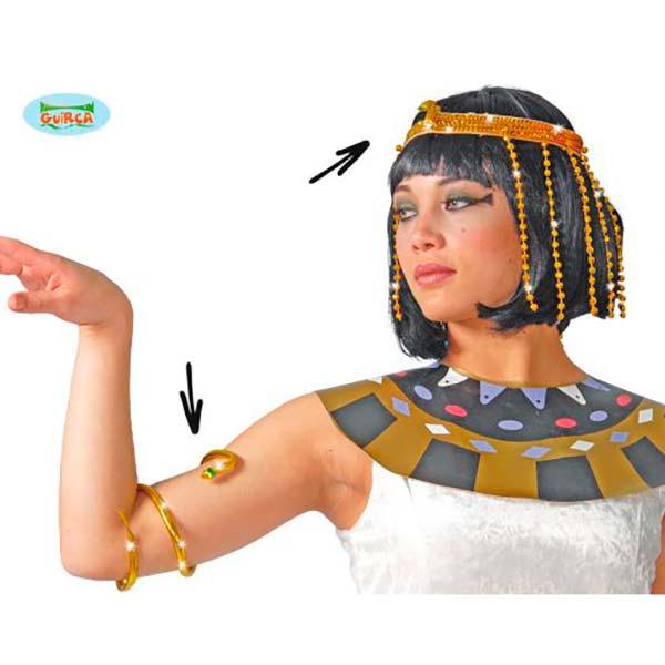 Conjunto de tiara y brazalete de Cleopatra